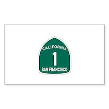 San Francisco, California Hig Sticker (Rectangular