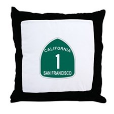 San Francisco, California Hig Throw Pillow