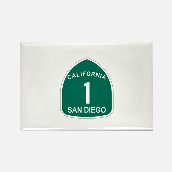 San Diego, California Highway Rectangle Magnet