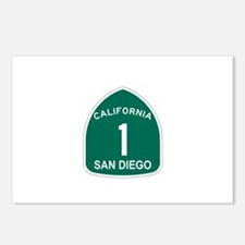 San Diego, California Highway Postcards (Package o