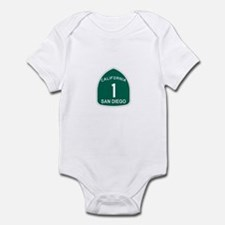 San Diego, California Highway Infant Bodysuit