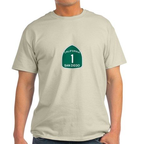 San Diego, California Highway Light T-Shirt