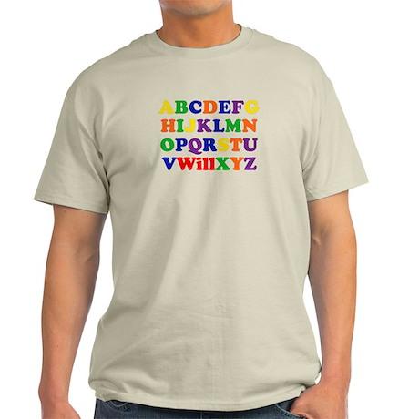 Will - Alphabet Light T-Shirt