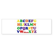 William - Alphabet Bumper Bumper Sticker