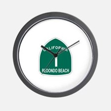 Redondo Beach, California Hig Wall Clock