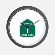 Point Magu, California Highwa Wall Clock
