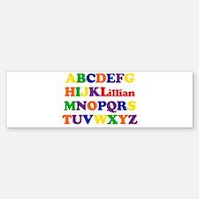 Lillian - Alphabet Bumper Bumper Bumper Sticker