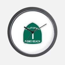 Pismo Beach, California Highw Wall Clock