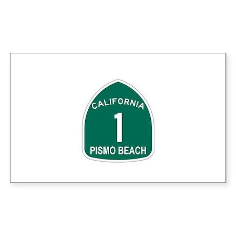 Pismo Beach, California Highw Sticker (Rectangular