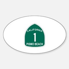 Pismo Beach, California Highw Oval Decal