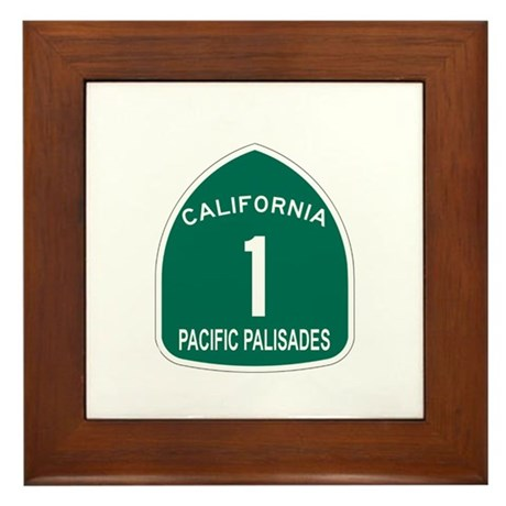 Pacific Palisades, California Framed Tile