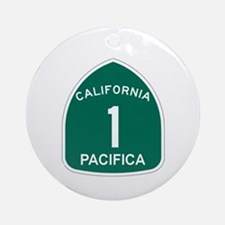 Pacifica, California Highway Ornament (Round)