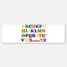 Xavier - Alphabet Bumper Bumper Bumper Sticker