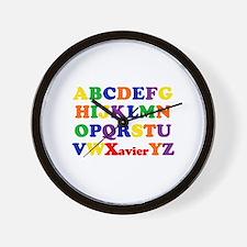Xavier - Alphabet Wall Clock