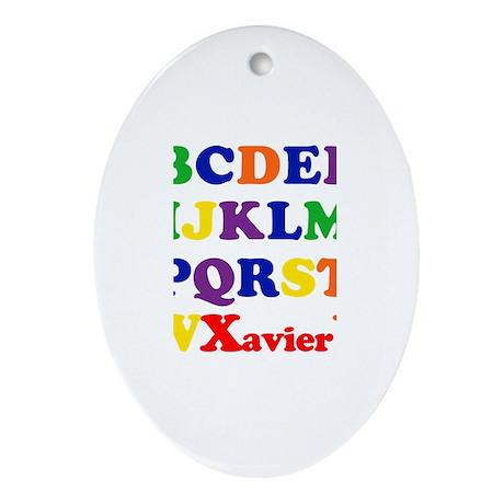 Xavier - Alphabet Oval Ornament