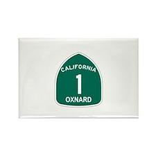 Oxnard, California Highway 1 Rectangle Magnet