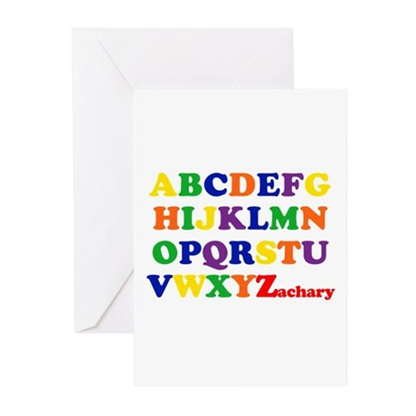 Zachary - Alphabet Greeting Cards (Pk of 10)