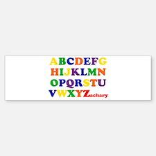 Zachary - Alphabet Bumper Bumper Bumper Sticker
