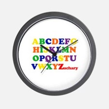Zachary - Alphabet Wall Clock