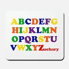Zachary - Alphabet Mousepad
