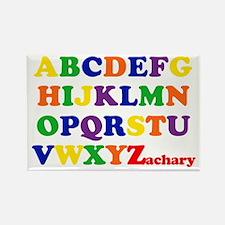 Zachary - Alphabet Rectangle Magnet