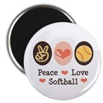 Peace Love Softball Team 2.25