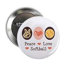 "Peace Love Softball Team 2.25"" Button (10 pack)"
