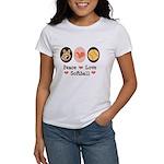 Peace Love Softball Team Women's T-Shirt
