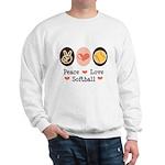 Peace Love Softball Team Sweatshirt