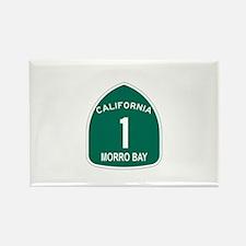 Morro Bay, California Highway Rectangle Magnet