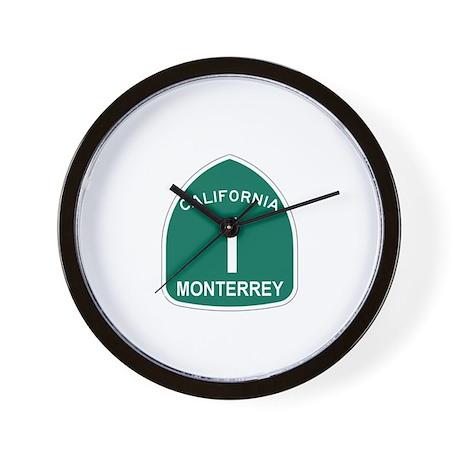 Monterrey, California Highway Wall Clock