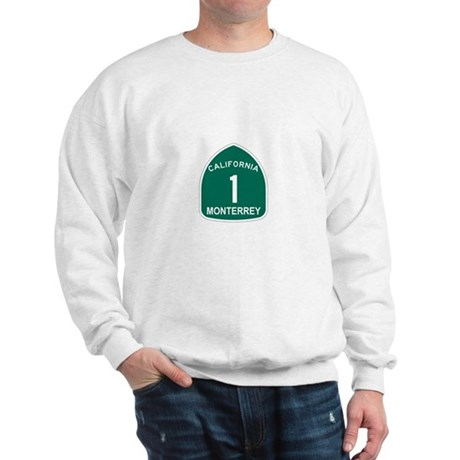 Monterrey, California Highway Sweatshirt