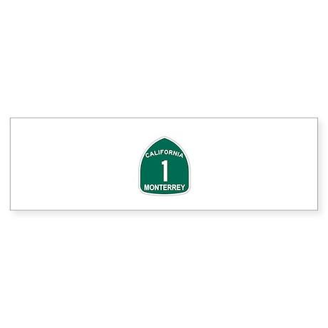 Monterrey, California Highway Bumper Sticker
