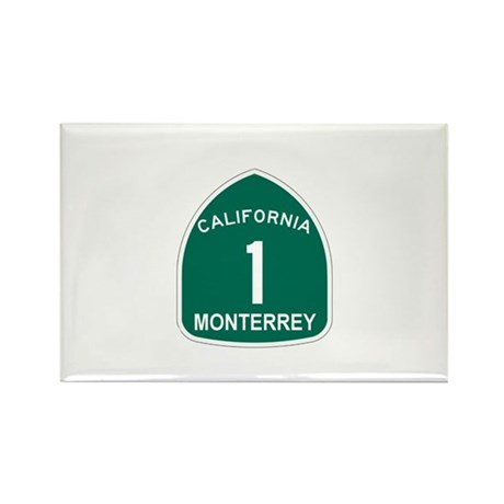 Monterrey, California Highway Rectangle Magnet (10