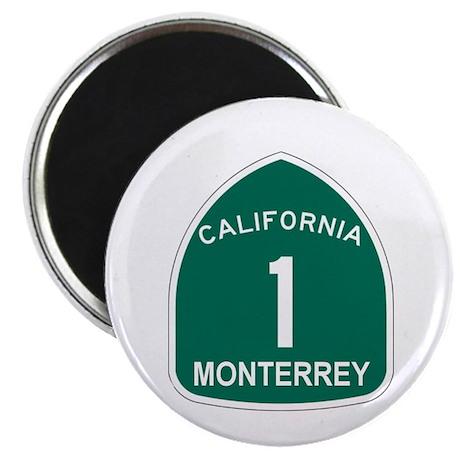 "Monterrey, California Highway 2.25"" Magnet (100 pa"