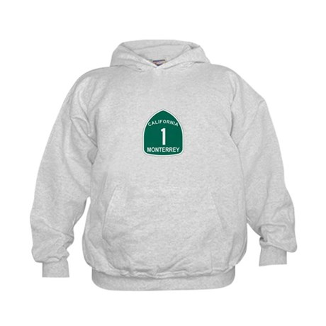 Monterrey, California Highway Kids Hoodie