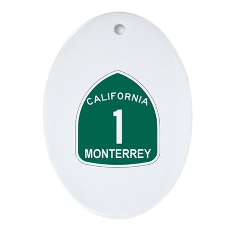 Monterrey, California Highway Oval Ornament