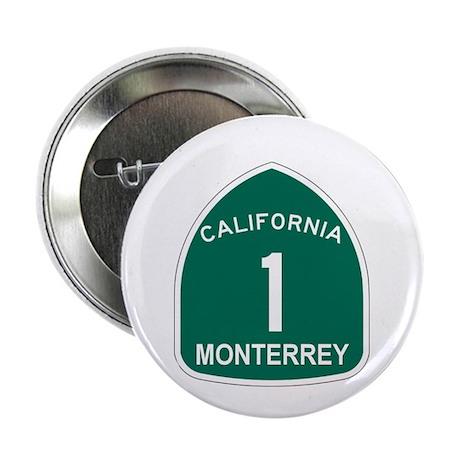 """Monterrey, California Highway 2.25"""" Button (10 pac"""