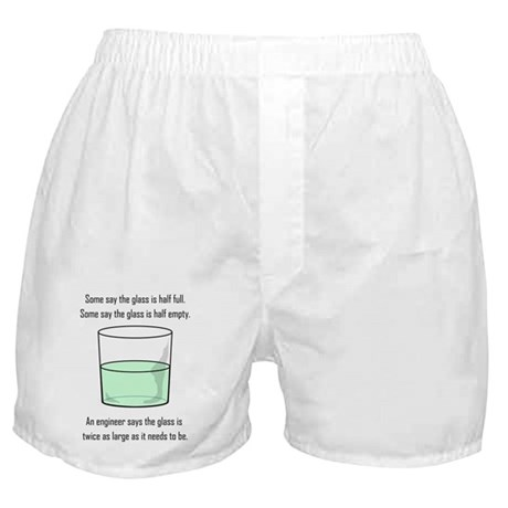 The Glass is Too Large Boxer Shorts