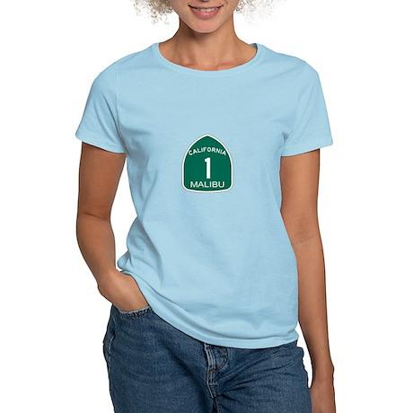 Malibu, California Highway 1 Women's Light T-Shirt