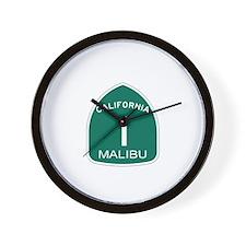 Malibu, California Highway 1 Wall Clock