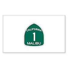 Malibu, California Highway 1 Rectangle Decal