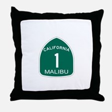 Malibu, California Highway 1 Throw Pillow