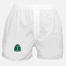 Malibu, California Highway 1 Boxer Shorts