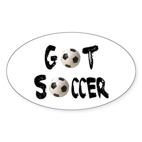 Got Soccer Oval Sticker
