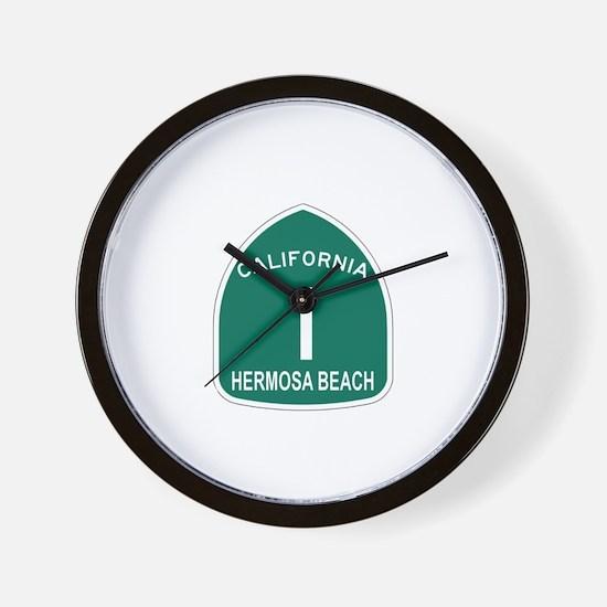Hermosa Beach, California Hig Wall Clock
