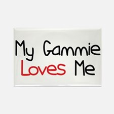 My Gammie Loves Me Rectangle Magnet