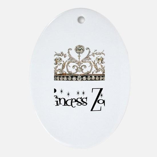 Princess Zoey Oval Ornament