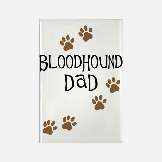 Bloodhound Dad Rectangle Magnet