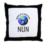 World's Coolest NUN Throw Pillow